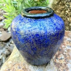 Decoupage Petite Urn - midnight blue