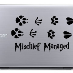 Mischief Managed Paw prints - Harry Potter - Vinyl Decal Sticker