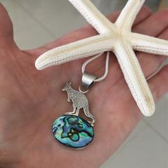 Kangaroo Paua Shell Abalone Shell Necklace