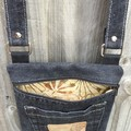 Upcycled Black Denim Cross Body Bag
