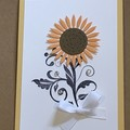 Sunflower Any ocassion Handmade Card - FREE POST