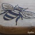 Wood Burnt Queen Bee Camphor Laurel Cutting Board