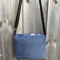 Upcycled Denim Small Messenger Bag