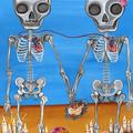 """The Two Skeletons"" Art Print by Aussie artist Jaz Higgins FREE POST"
