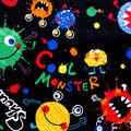 Preschool teacher utility daycare lined apron - 6 pockets - Monsters