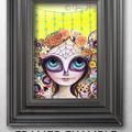 """Sugar Skull Princess"" Art Print by Jaz Higgins - Day of the Dead Skeleton Girl"