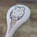 Wood Burnt Bird Wooden Spoon
