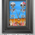 """The Two Skeletons"" Art Print by artist Jaz Higgins"