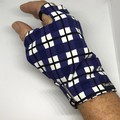 Sunglove: golf, lycra, sun protection, fingerless, palm free, Large, free post