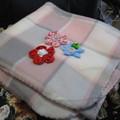 THROW RUG - Decorated Fleecy Snuggle Rug