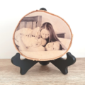 Personalised Birch Wood Slice Photo Plaque