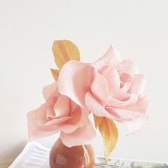 Dusty purple rose || crepe paper flowers, paper flower bouquet, home decor.
