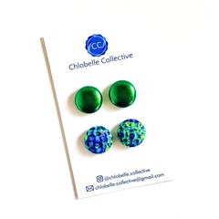 Medium stud pack - green/blue blend