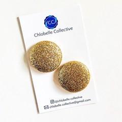 Mega stud pack - gold glitter