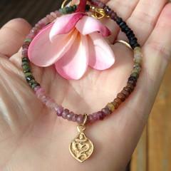 Tourmaline Om Aum Yoga Bracelet