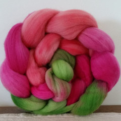 Hand Painted Wool Roving- BEATRICE