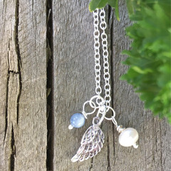 Silver Angel Wing Necklace,