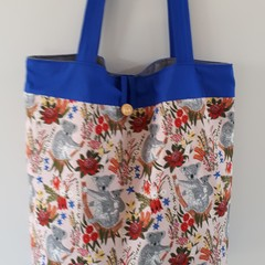 Cute Koala Fabric TOTE  Eco Friendly Handmade Market, Library, Shopping, Gifting