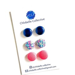 Small stud pack - pink & blue