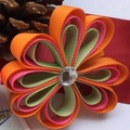 Ribbon Flower Hair Clips