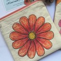 Zippered Hand Painted Travel Pouch