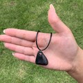 Shungite necklace - EMF Protection, Protection Pendant, Natural russian shungite