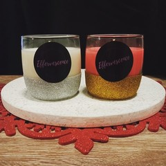Glitter Christmas Candle - 240g