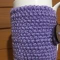Handmade purple cozy or mug, tea cosy, coffee cozy, mug cozy, purple cozy