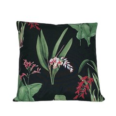 Modern Tropical Floral Pillow. Outdoor Entertaining.