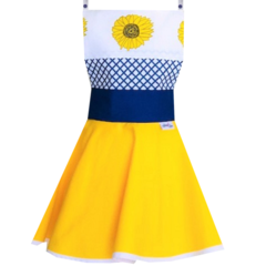 Sunflower Blue and Yellow Kid's Apron - Australian Made Apron