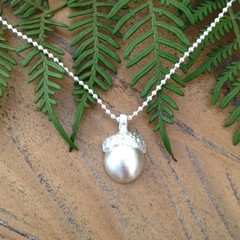 Recycled Silver Acorn with chain