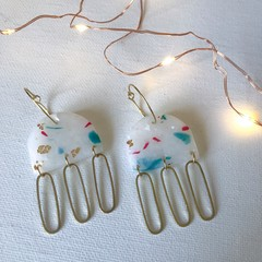 Snowflake Christmas Festive Statement Jelly Dangles