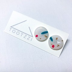 Snowflake Christmas Festive Statement Mini Studs - Speckle
