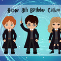 Harry Potter Inspired Rectangle Edible Icing Cake Topper - FREE EXPRESS SHIPPING