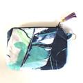 Ettie Ink navy blue zippered pouch