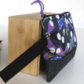 Modern graphic navy blue and black ladies wristlet bag