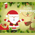 Christmas Xmas Rectangle Edible Icing Cake Topper - FREE EXPRESS SHIPPING