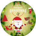 Christmas Round Edible Icing Cake Topper - PRE-CUT - FREE EXPRESS SHIPPING