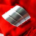 Sterling silver wide wrist cuff