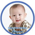 Round Pre-cut Edible Icing Cake Topper with Your Photo - EI023R