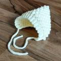 Cream/Off White Crochet Bobble Baby Pixie Bonnet Beanie Hat 0-2 months