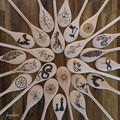 Wood Burnt Mandala Wooden Spoon