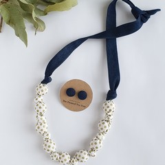 Fabric Knot Necklace (ONLY)