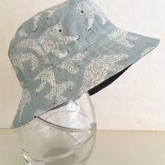 Boys summer hat in polar bears fabric