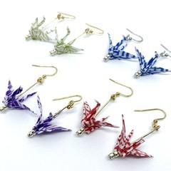 Origami Crane (Tsuru) Earrings – 4 different colours