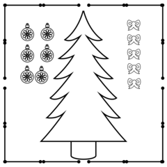 christmas tree cut out (instant download)