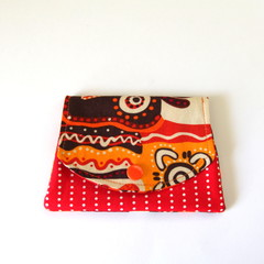 Find a Penny Purse - Red & Orange Aboriginal Fabric