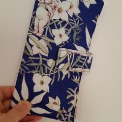 Flannel Flower babies wallet