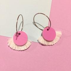 Mini tassel hoop dangles