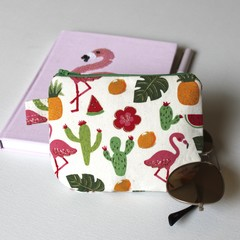 Flamingos tween teen coin purse